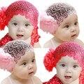 2016 Corea Del Encaje 3 Color Kids Niños Floral Flor de La Venda Del Bebé Hairband Elástico Del Pelo Accesorios Para El Cabello Banda Ornamento 8ME1