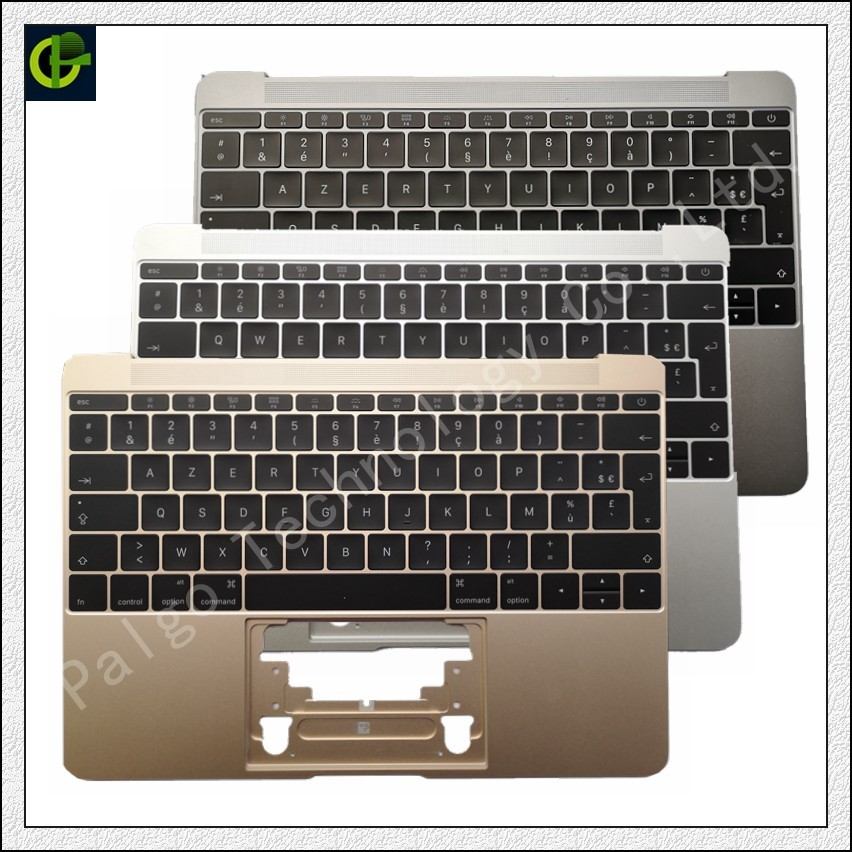 French Azerty Backlit Keyboard with palmrest for Macbook Retina A1534 12 Year  2016 2017 case topcase houseing box FR laptopFrench Azerty Backlit Keyboard with palmrest for Macbook Retina A1534 12 Year  2016 2017 case topcase houseing box FR laptop
