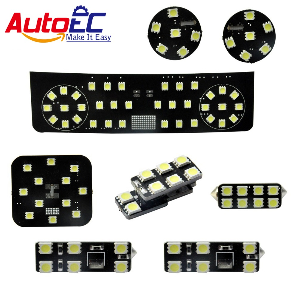 autoec 8pcs set car interior festoon dome panel light dome map reading light lamp kit for vw. Black Bedroom Furniture Sets. Home Design Ideas