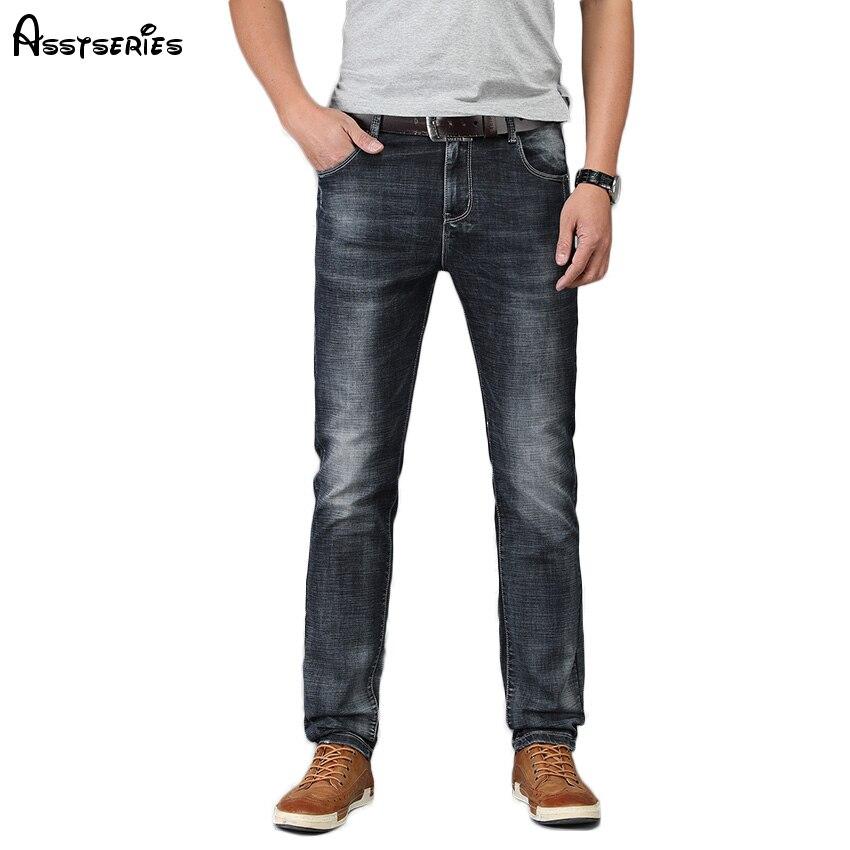 2018 Elastic Men Trousers Brand New Mens Fashion Jeans Business Casual Stretch Slim Jeans Classic Denim Pants D99