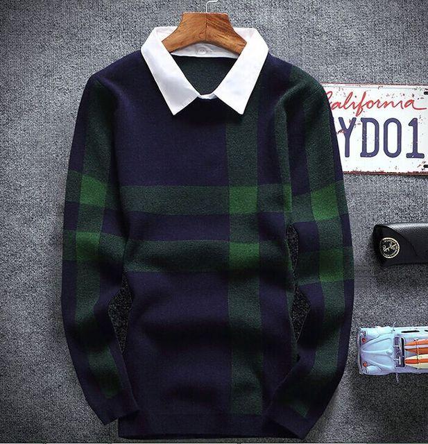 2016 бренд одежды случайные люди пуловеры slim fit свитера мужчины кардиган мужчины свитер