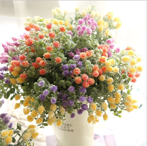 Artificial flowers small fresh Milan Bayberry with artificial flowers garden wedding home decoration