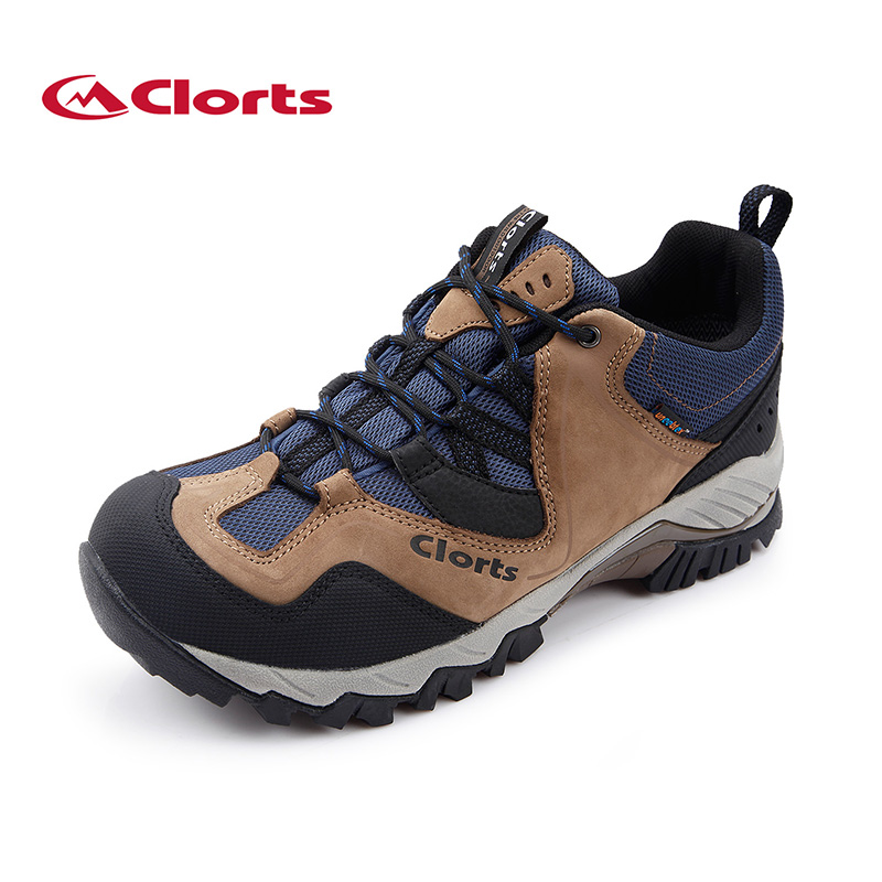 2018 Clorts Mens Hiking Shoes Waterproof Outdoor Climbing Shoes Breathable Sports Shoes Suede Leather Free Shipping HKL-826A