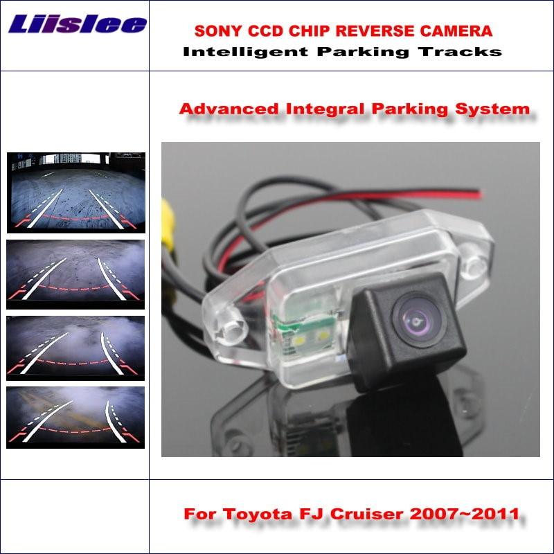Liislee Rear Camera For Toyota FJ Cruiser 2007~2011 Intelligent Parking Tracks Backup Reverse / Dynamic Guidance Tragectory for toyota fj cruiser 2007 13 double
