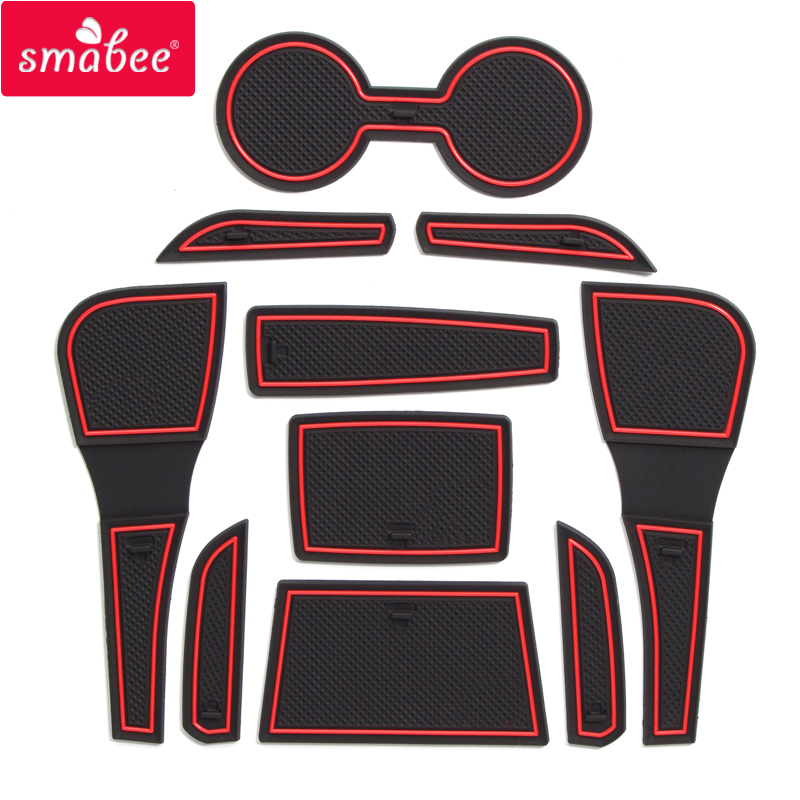 for Mazda 2 Demio 2015 - 2019 DJ Anti-Slip Rubber Cup Cushion Door Groove Mat 2016 2017 2018 Accessories Car Styling Stickers