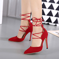 Fashion Quality Gladiator High Heels women sandals Genova Stiletto pointed toe ankle strap Pumps shoes woman zapatos mujer