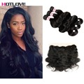 8A Brazilian Virgin Hair With Closure Lace Frontal Closure With Bundles Queen Hair Products Hot Human Hair Bundles With Closure