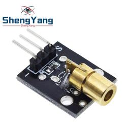 Smart Electronics New KY-008 3pin 650nm Red Laser Transmitter Dot Diode Copper Head Module for Arduino AVR PIC DIY