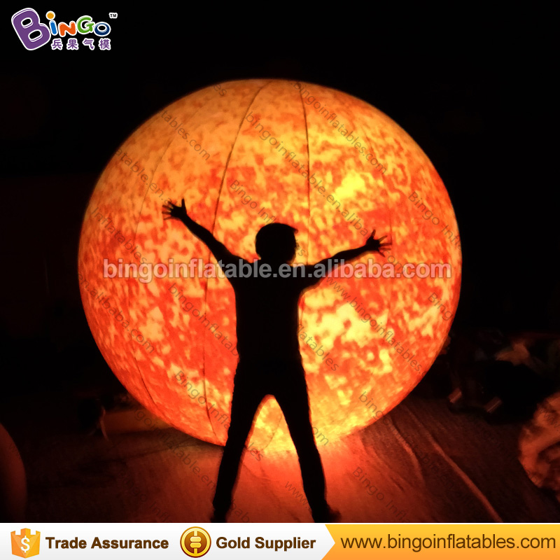 3M dia LED lighting inflatable Sun balloon high quality customized blow up balloon type Sun replica with blower toys ao231 christmas decoration inflatable snowman helium parade balloon with blower sky helium balloon for advertising events
