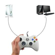 Datos de cable USB Gamepad para Xbox 360 controlador Joystick para oficial de Microsoft PC controlador para Windows 7 8 10