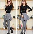 Winter Women Large Size Plus Velvet Skirt Legging Girls Skirt Leggins Winter Skirt With Pants Warm Cotton Skinny Pants TT233