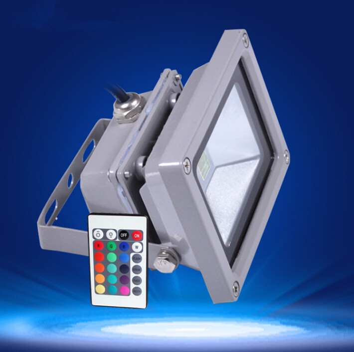 Outdoor LED flood light for square Waterproof IP65 10W 20w 30w RGB high power LED floodlight with IR controller