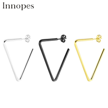 Innopes 2019 trendy Korean Girl Cute  stud earrings geometric Triangle quadrangle round Long Earrings Fashion Accessories