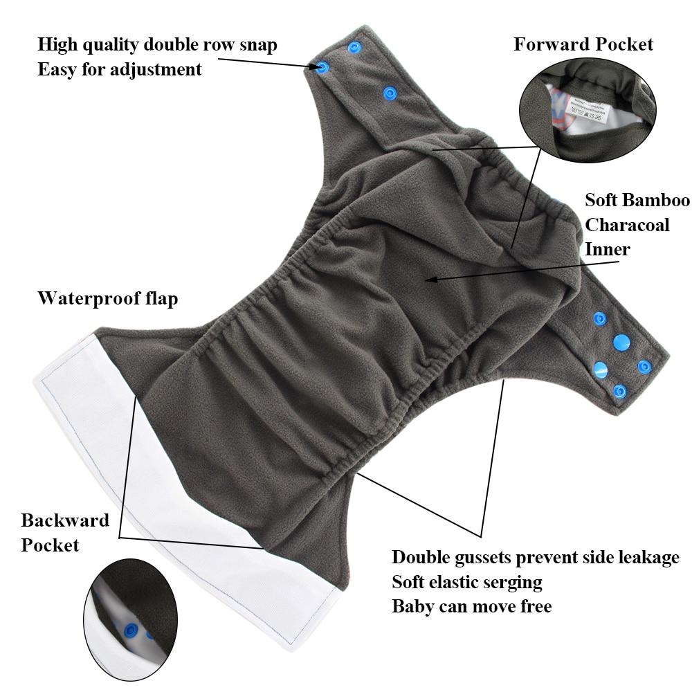 Ohbabyka All-in-two AI2 pañal de bebé pañal cubierta de pañales - Pañales y entrenamiento para ir al baño - foto 6