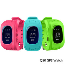 Q50 Anti Lost OLED Child GPS Tracker SOS Smart Monitoring Positioning Phone Kids GPS Watchs Compatible with IOS & Androids