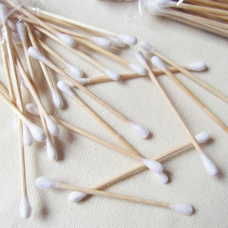 Wooden Cotton Buds,  Cosmetic Makeup Swabs