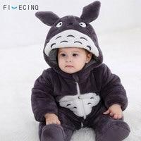 Totoro Cosplay Thick Costume Baby Kigurumi Onesie Anime Gray Funny Cute Cat Pajama Infant Fancy Children Soft Sleeping Suit