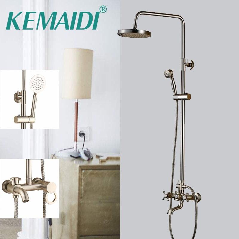цена KEMAIDI Nickel Brushed Bathroom Shower 8
