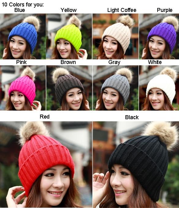88d48e1d0 US $3.73  Classic Tight Knitted Fur Hat Women Cap Winter Beanie Headgear  Headdress Head Warmer free shipping 57-in Skullies & Beanies from Apparel  ...