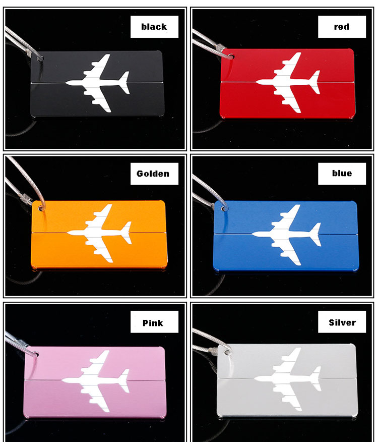 HTB1d7pGbUsIL1JjSZPiq6xKmpXaL - OKOKC Aluminium Alloy Luggage Tags Baggage Name Tags Suitcase Address Label Holder Travel Accessories