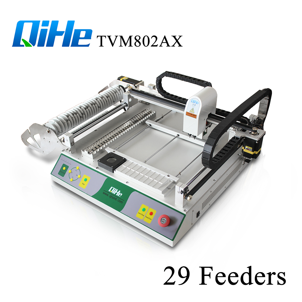 Low Cost SMT Pick And Place Machine/Cheap Chip Mounter Model TVM802AX Max 395*450mm For Smt Assembly Line Free Shipping assembly line
