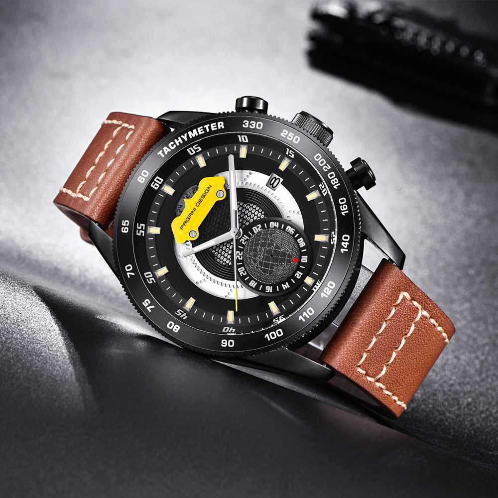 New PAGANI DESIGN Luxury Brand Men Watches Fashion Military Sports Watches Leather Quartz Watch Relogio Masculino dropshipping