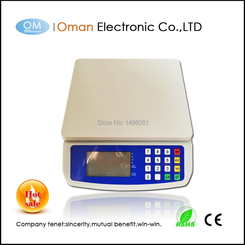 Kitchen Digital Electronic Scale 30KG Commercial Shop Weight Scales Food White