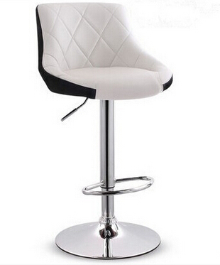 metal leather bar stools - White Leather Bar Stools