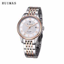 51a1f8ffcd3 RUIMAS Top De Luxo Da Marca Relógio De Pulso Para Homens de Negócios Relógio  Mecânico Famosos Relogio masculino Relógio de Aço I..