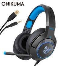 ONIKUMA K9 игровая гарнитура для ноутбука/PS4/Xbox один контроллер шлем PC стерео наушники с микрофоном светодиодный свет