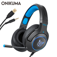 ONIKUMA K9 Gaming Headset for Laptop/ PS4/Xbox One Controller casque PC Stereo Earphones Headphone with Microphone LED Light