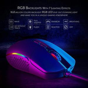 Image 3 - Redragon M719 INVADER السلكية الألعاب ماوس بصري مكتب الفئران RGB الخلفية 10000 ديسيبل متوحد الخواص 7 أزرار للبرمجة جهاز كمبيوتر شخصي ل Dota