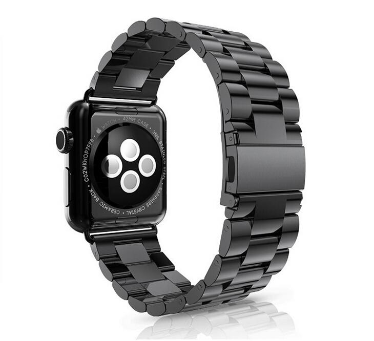 Prix pour FOHUAS Série 2/1 de Haute qualité De Luxe bracelet bretelles 38mm bande en métal en acier inoxydable Pour Apple watch bandes 42mm lien bracelet