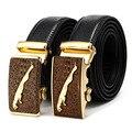 Top Men Jaguar Belt crocodile Leather Automatic Buckle Belt Designer Belts Mens Luxury Belts High Quality Male Strap 110cm-130cm
