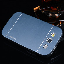 Luxury Brush Aluminum Case Chrome Hard Cover For Samsung Galaxy S3 Duos I9300i  I9300 S III Hybrid Cover