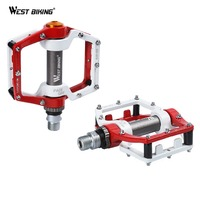1 Pair BMX Road MTB Parts Bike Pedals Ultralight Aluminum Alloy Bike Pedal Sealed Bearing Pro