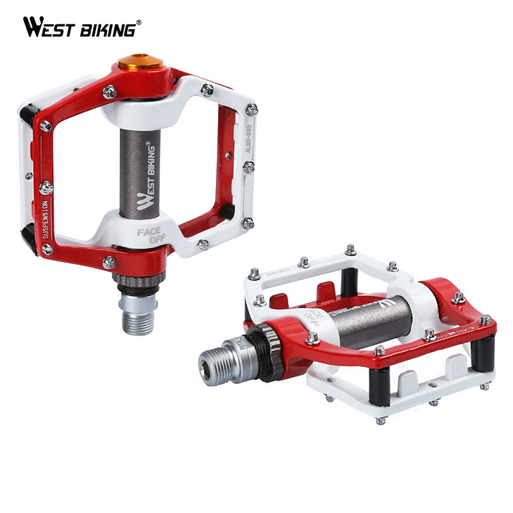 Newest 1 Pair BMX Road MTB Parts Bike Pedals Ultralight Aluminum Alloy Bike Pedal Sealed Bearing Pro Cycling Bicycle Bike Pedals
