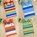 2014 nova moda de verão para crianças colete sem mangas unisex camisetas tshirts básicas para os meninos e meninas 3 5 6 8 10 12 anos de algodão tees