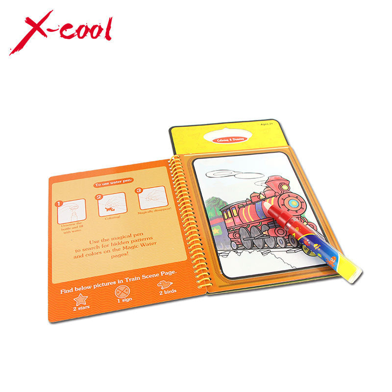 Coloring Book With Water Pen : Aliexpress.com : Buy XC1391 New arrives Magic Kids Water Drawing Book with 1 Magic Pen ...