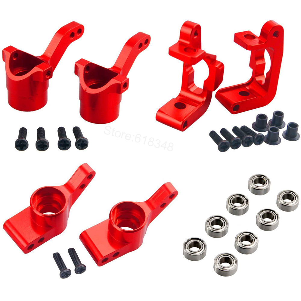 For HPI Bullet ST 3.0 MT WR8 RTR Kit Aluminum Steering Knuckle C Hub Carrier Replace #108077 108078 108021 101208 Upgrade Parts aluminum steering knuckle carrier aka caster block c hub set for the traxxas x maxx