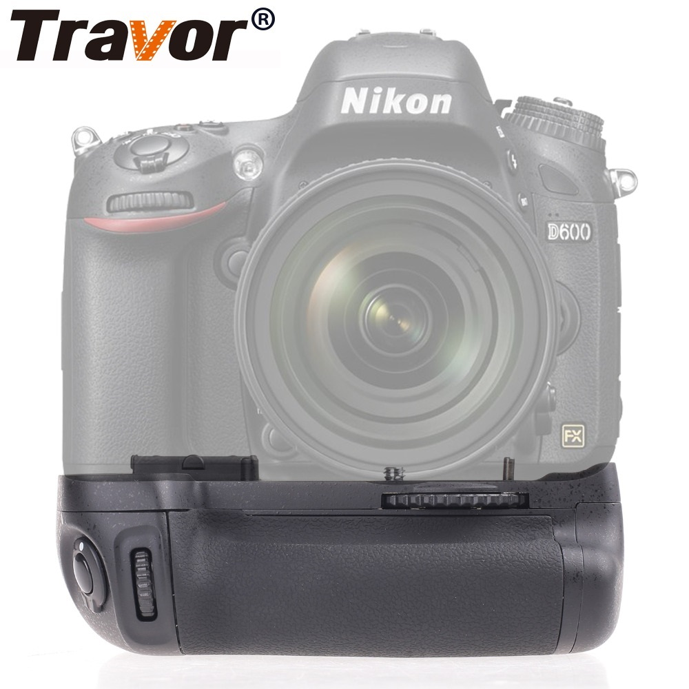 Travor Vertical Camera Battery Grip Holder For NIKON DSLR D600 D610 Battery Handle Work With EN-EL15 Replace MB-D14 travor vertical battery grip holder for nikon d850 mb d18 dslr camera battery handle work with en el15 battery