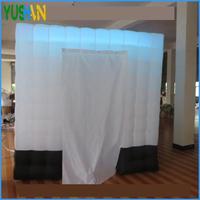 Новый дизайн светодио дный прокладка на верхней надувные photo booth с черной тканью на дне