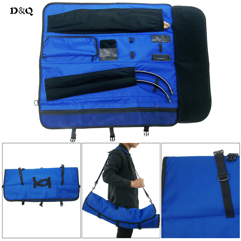 Archery Bow Bag Shoulder Handle for Recurve bow Take Down Bow Carrying Hunting Shooting Accessories Rolled-Up Foldable Bow Case