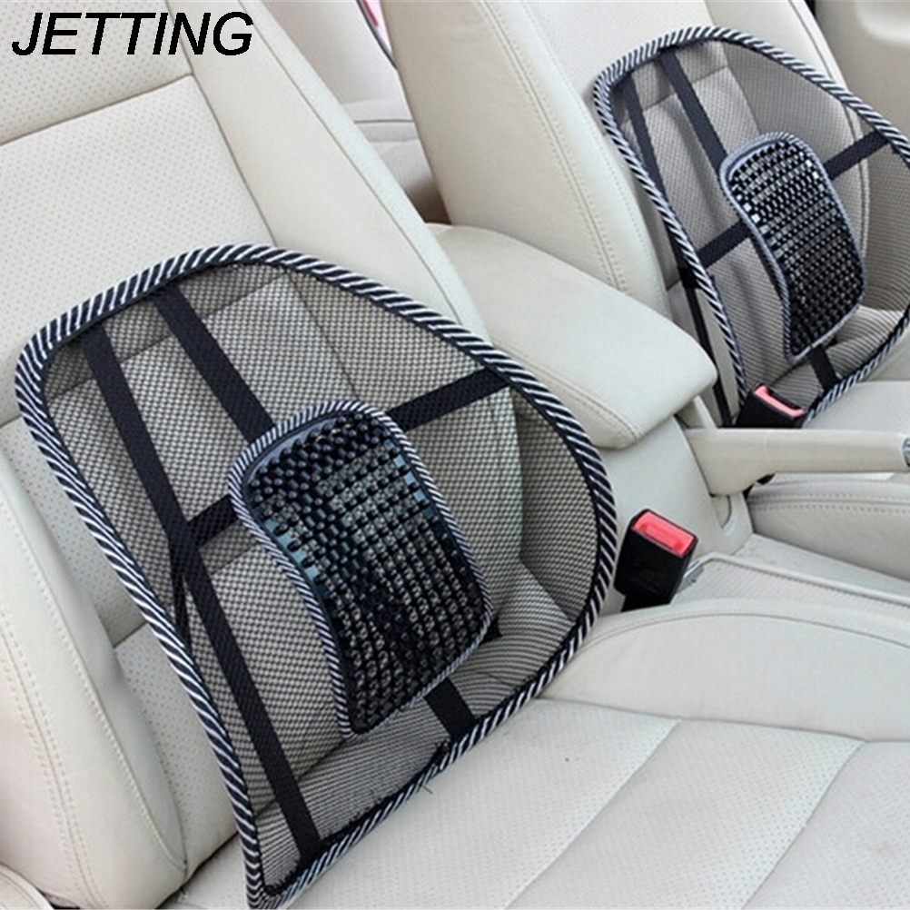 Jetting 1 pc massage vent mesh lumbar lower back brace support car seat chair cushion pad