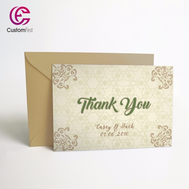 50pcs Lot Personalized Thank You Card Or Save The Date Card With