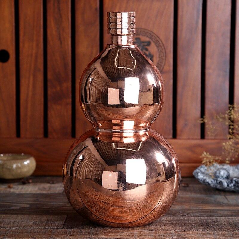64 oz épaissir acier inoxydable gourde cruche mode décoration Bar vin armoire affichage eau bouilloire Flagon vin Pot livraison gratuite