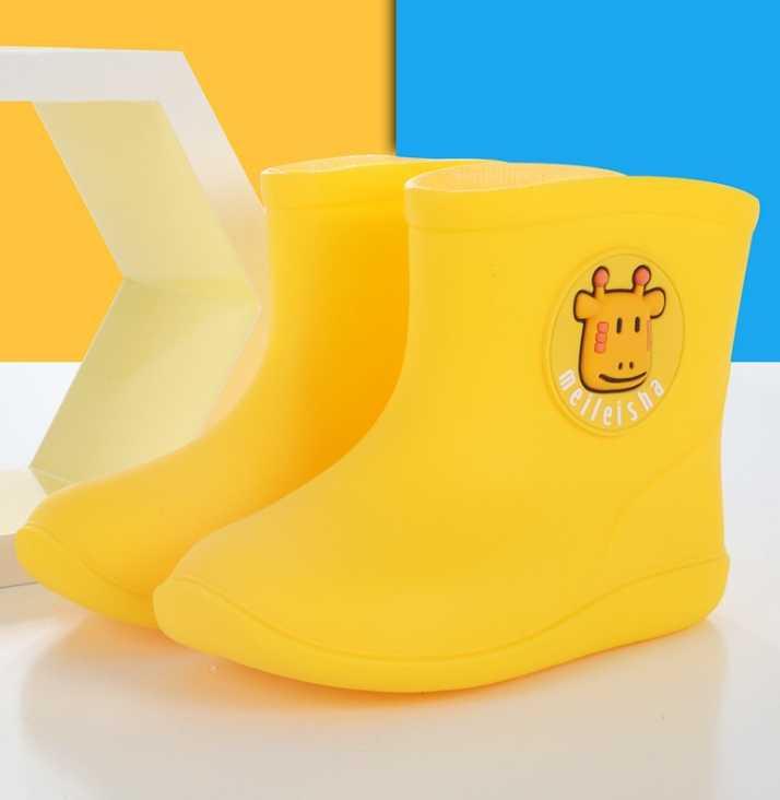 MXHY Yeni Moda çocuk ayakkabıları PVC Kauçuk Çocuklar Bebek Karikatür Ayakkabı Öğrenciler botları Su Geçirmez yağmur çizmeleri Mevsim Removable24-28