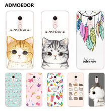 xiaomi redmi 5 plus Case,Silicon Look cat Painting Soft TPU Back Cover for xiaomi redmi 5 fitted Case shell