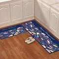 Ковер для кухни 2 шт./компл. коврик для гостиной мультяшный ковер для детской комнаты Противоскользящий коврик для ванной для туалета Симпат...
