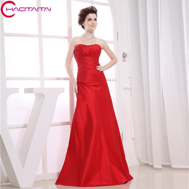 Formales 2018 High Quality Designer Maid Sleeveless Maxi Custom Size/color Long Red Sexy Bridesmaid Dresses